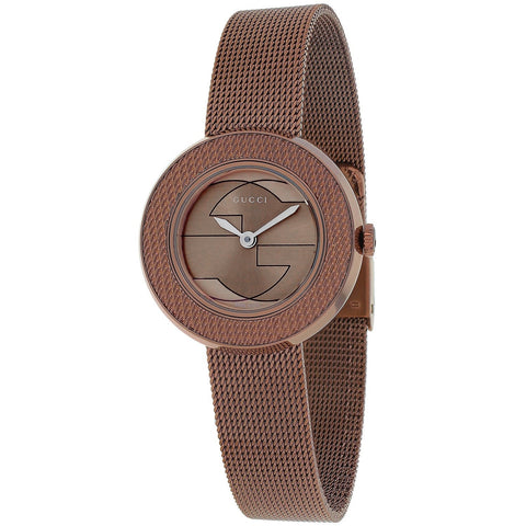 Gucci Watch 12mm / Stainless Steel Gucci Women's 'U-play' Brown Stainless Steel Watch