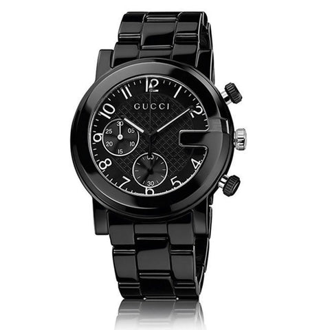 Gucci Watch 18mm / Black / Stainless Steel Gucci Men's 'Gucci G Chrono' Swiss Quartz Black Ceramic Watch
