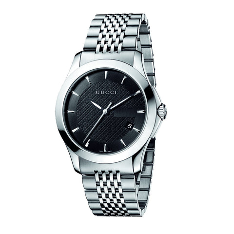 Gucci Watch 19mm / Black / Stainless Steel Gucci Men's 'Timeless' Stainless Steel Watch