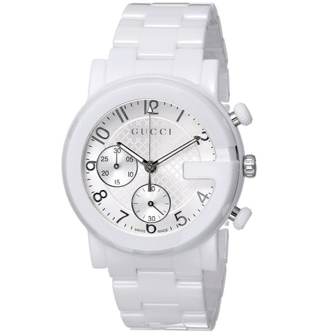 Gucci Watch 20mm / White / Ceramic Gucci Men's 'Gucci G Chrono' Swiss Quartz White Ceramic Watch