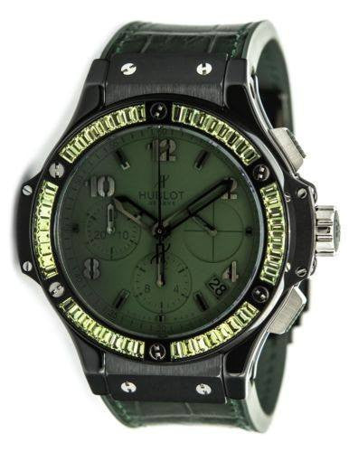 Hublot Watch 41mm / Green Hublot Big Bang Tutti Fruitti Green Sapphire Bezel Watch 341.CV.5290.LR.1917