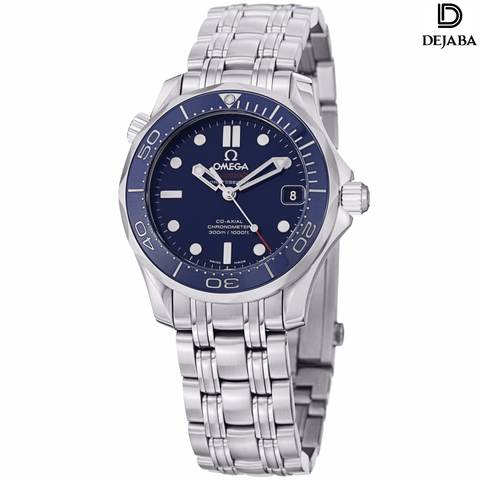 Omega Watch 17mm / Stainless Steel Omega Men's 'Seamaster300' Blue Dial Stainless Steel Automatic Watch