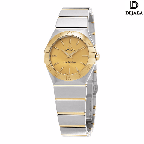 Omega Watch 18mm / Stainless Steel Pre-owned and Unworn Omega Women's 'Constellation' Goldtone Dial Stainless Steel/Yellow Gold