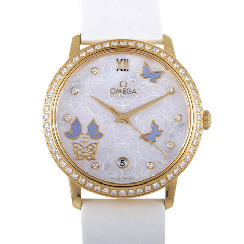 Omega Watch 36mm / Mother of Pearl Omega De Ville Prestige Co-Axial 36mm 18k Solid Gold 9 Diamonds