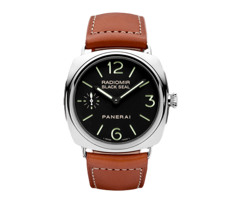 Panerai Watch 45mm / Black PAM00183  | Panerai Radiomir Stainless Steel Black Seal Mens Watch