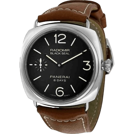 Panerai Watch 45mm / Black PAM00609 | Panerai Radiomir Stainless Steel Black Seal 8 Days 45mm
