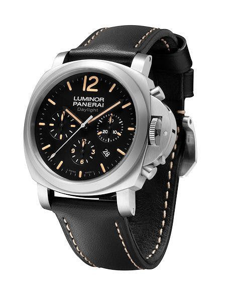 "Panerai Watches 44mm / Black PAM00356 | Panerai Luminor Chrono Steel 44mm ""Sylvester Stallone's Daylight"""