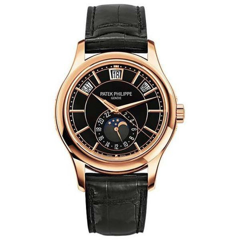Patek Philippe Watch 40mm / Black Patek Philippe Complications Annual Calendar 40mm 18k Rose Gold 40mm Black dial
