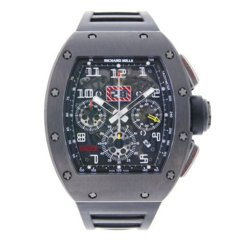 Richard Mille Pre-owned Watch 40mm / Titanium Richard Mille Felipe Massa Chronopassion Black DLC Titanium RM011 Limited Edition