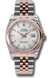 Rolex Rolex Watch 116201 ♛ Rolex ♛ Oyster Perpetual Datejust 36mm 18k Pink Gold Silver Dial