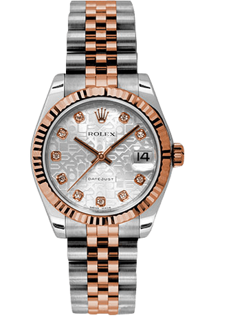 Rolex Rolex Watch 31mm / Silver Jubilee 178271 ♛ Rolex ♛ Datejust Stainless Steel and 18K Rose Gold Silver Jubilee Dial 31mm