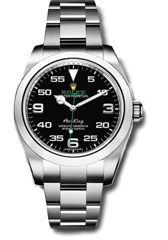 Rolex Rolex Watch 34mm / Black 116900 ♛ Rolex ♛ Air King 40mm Black Arabic 3-6-9 White Gold Markers Oyster