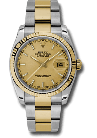 Rolex Rolex Watch 36mm / Gold 116233♛ Rolex ♛ Datejust Steel & 18K Yellow Gold Champagne 2016