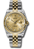 Rolex Rolex Watch 36mm / Gold 116233 ♛ Rolex ♛ Oyster Datejust 36 Champagne Jubilee Dial Steel and 18k Gold
