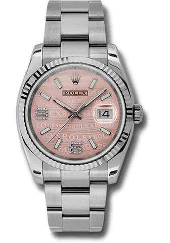 Rolex Rolex Watch 36mm / Pink 116234 ♛ Rolex ♛ Oyster Perpetual Datejust 36mm Pink Dial Diamond 6-9 Oyster