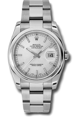 Rolex Rolex Watch 36mm / Silver 116200 ♛ Rolex ♛ SS Perpetual Datejust 36 Index Silver Dial Oyster 36 mm