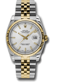 Rolex Rolex Watch 36mm / Silver 116233 ♛ Rolex ♛Oyster Perpetual Datejust 36 Silver Index Dial Steel and 18k Gold