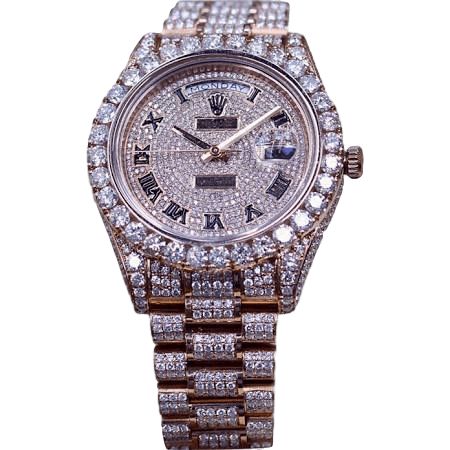 Rolex Watches 218238 ♛ Rolex ♛ Day Date II President Rose Gold 33 Carat Brilliant VS2 Diamond So Icey