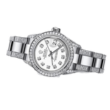 Rolex Watches Ladies ♛ Rolex ♛ Oyster Perpetual Datejust Steel White Diamonds Dial