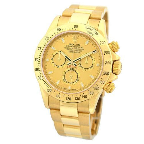 116528 Rolex 40mm 18k Solid Gold Daytona Cosmograph Chronograph Champagne