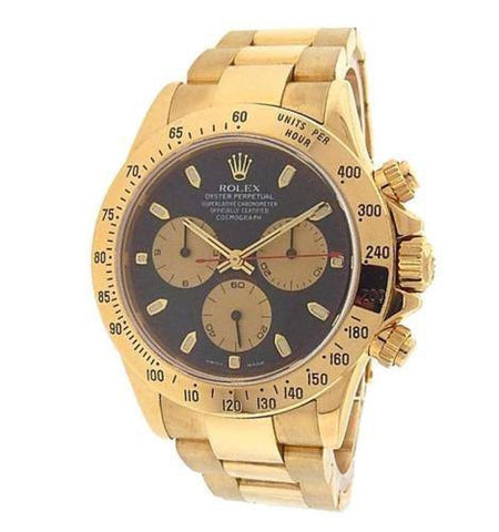 116528 Rolex Daytona Cosmograph 18k Solid Gold Chronograph Black Dial 40mm