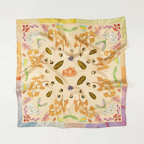 West Coast Plants Inspired Silk Scarf