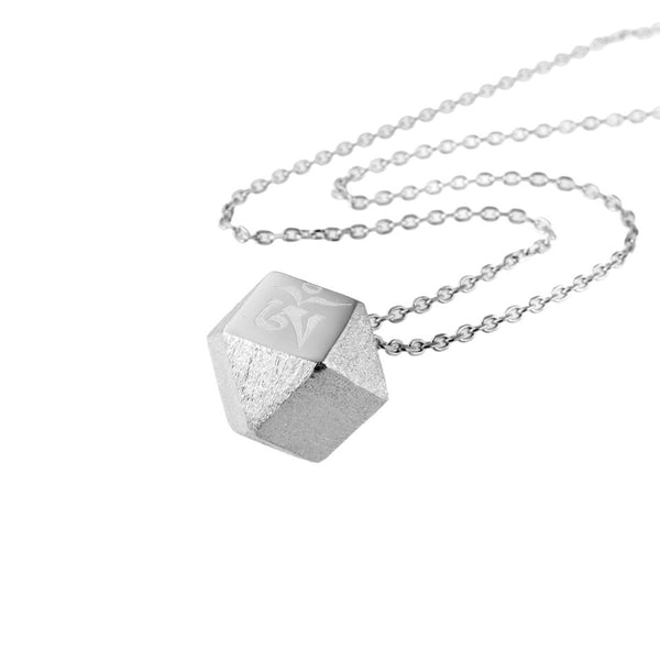 Mantra Cube Necklace - Gold