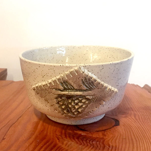 Pinecone Ceramic Bowl