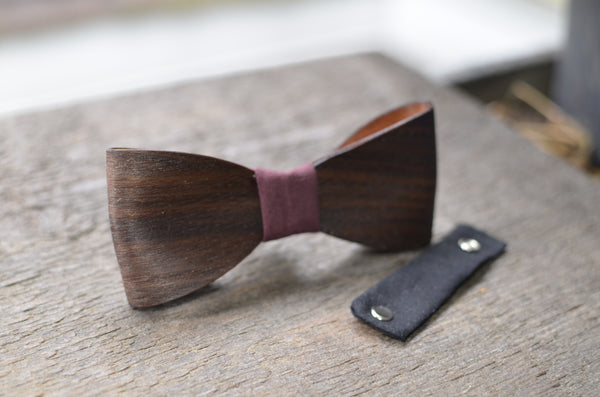 Walnut Wood Bow Tie