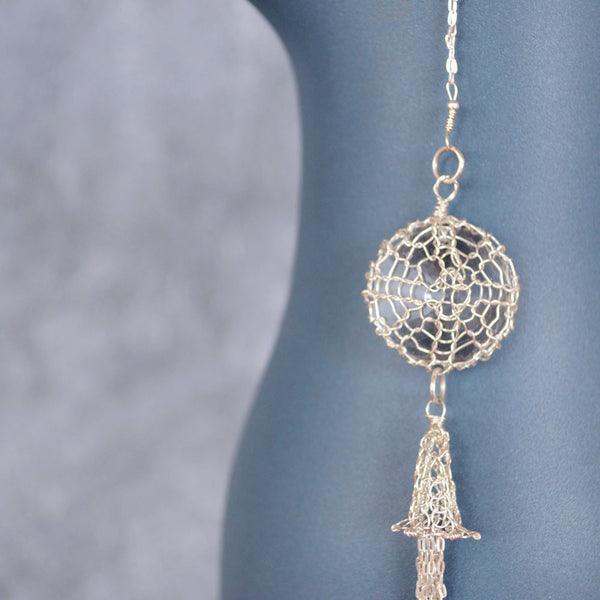 Long Tasselled Dream Catcher Necklace