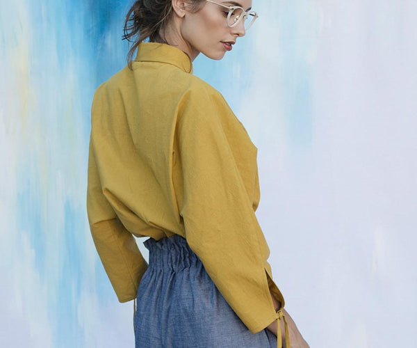 Washi Blouse - Mustard