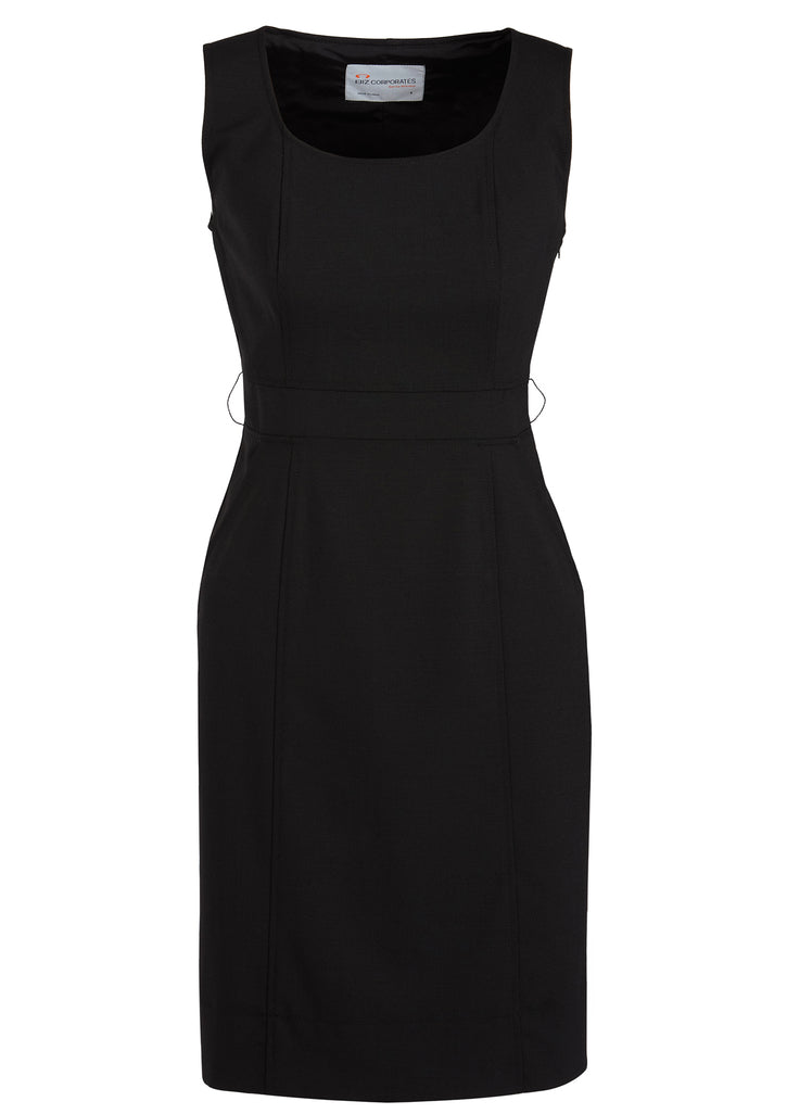 b8e1000899a7ac Biz Corporates 34011 Sleeveless Dress – The Corporate Uniform Shop