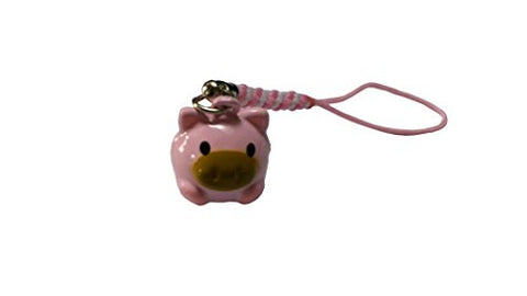 10 PC Mini Pig Bell On Strap