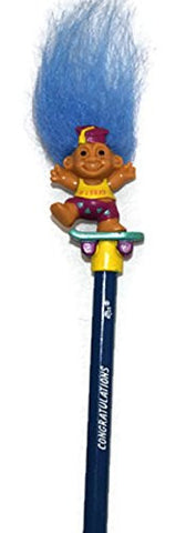 "#1 Grad Congratulations Troll Pencil - Troll 1 1/2"" - Standard Size Pencil Good Luck Lucky Troll Birthday"
