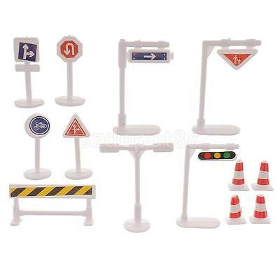 13Pcs Toys Set Traffic Signs Lights Kids Play Fun Educational Learning Toys
