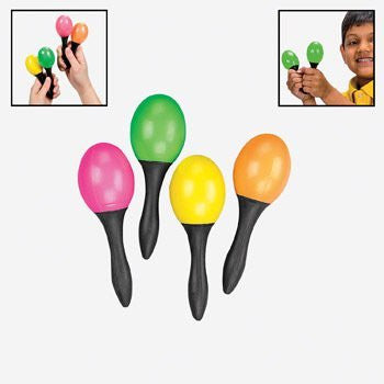 24 Pc Toy Maracas - Small - 12 Pair Per Order - Great Party Favors for Fiesta!