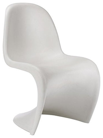 'S' Panton Style Sleek Fluid Curves Small White Chair (1)