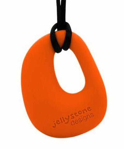 1 X Organic Pendant - Silicone Necklace (Teething/Nursing) (Carrot) by Jellystone Designs