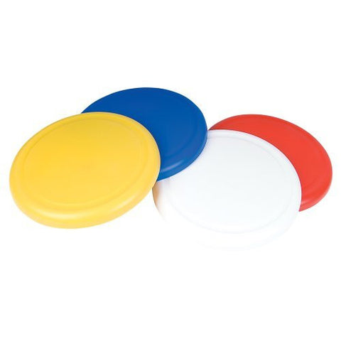 10 FLYING DISK (Pack of 12) red, white, yellow, blue 3 each, Model: CAFLYE1, Toys & Play