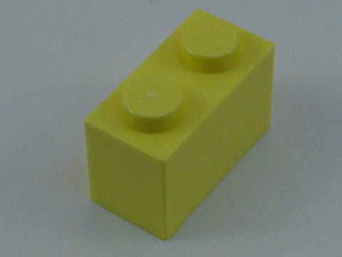 100x Lego Bright Light Yellow 1x2 Bricks Fun Pack