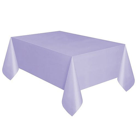 2 X Lavender Plastic Table Cover 54'' x 108'' Rectangle