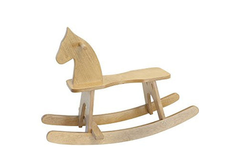 Amish-Made, Handcrafted Wooden Rocking Horse (Harvest Finish)