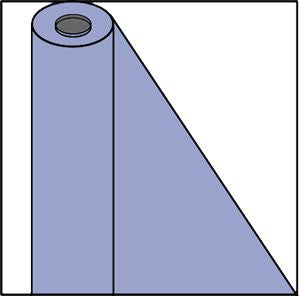 100 FEET PLASTIC TABLE ROLL HYDRANGEA
