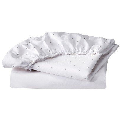 100% Cotton Bassinet Fitted Sheet Set - CircoTMGREY/WHITE by Circo