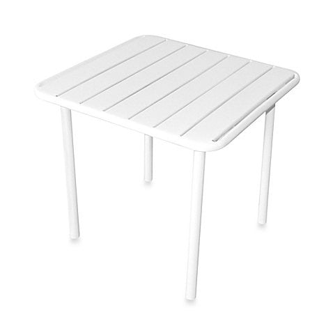 Children Metal Slat Table in White