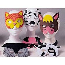12 Farm Animal Foam Masks by SmallToys