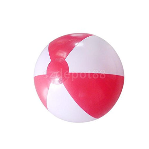 "14"" Inflatable Colorful Pool Party Beach Ball-Red in White"