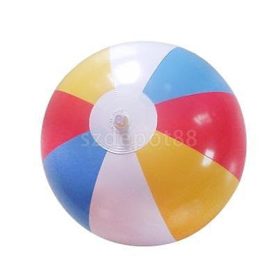 "12"" Inflatable Colorful Pool Party Beach Ball-8 Pieces of Colors Mixed"