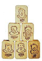 """How Are You Feeling?"" Rubber Stamps Set of Six in German"