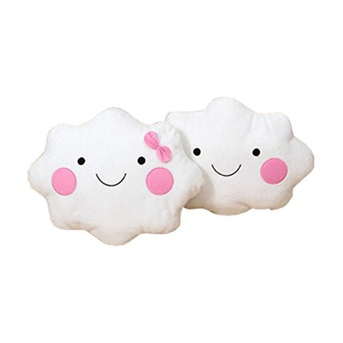1 Pair Cute Smiley Clouds Cushions Pillow Gift for Valentine's Day